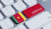 Koncepce klávesnice Kamerun — Stock fotografie