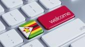 Zimbabwe Welcome Concept — Stock fotografie
