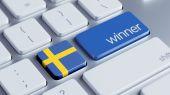 Sweden Winner Concept — Stock Photo