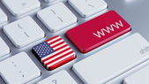 United States www Concept — Stock fotografie