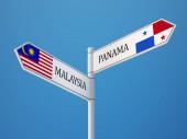 Panama Malaysia  Sign Flags Concept — Stockfoto