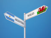 Wales Argentina  Sign Flags Concept — Stockfoto