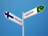 Pakistan Finland  Sign Flags Concept — Stock Photo
