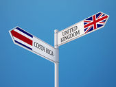 United Kingdom Costa Rica Sign Flags Concept — Foto Stock