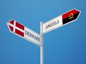 Denmark Angola  Sign Flags Concept — Stock Photo