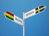 Sweden Bolivia  Sign Flags Concept — Foto de Stock