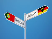 Portugal Germany  Sign Flags Concept — Stok fotoğraf