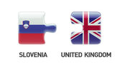 Slovenia United Kingdom  Puzzle Concept — Zdjęcie stockowe