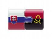 Slovakia Angola  Puzzle Concept — 图库照片