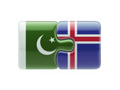 Iceland Pakistan  Puzzle Concept — 图库照片