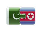 Pakistan North Korea  Puzzle Concept — Stock Photo