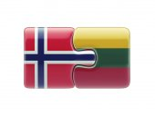 Lithuania Norway  Puzzle Concept — Stock Photo