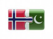Pakistan Norway  Puzzle Concept — Stock Photo