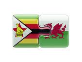 Concepto de Puzzle de país de Gales de Zimbabwe — Foto de Stock