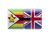 Zimbabwe United Kingdom  Puzzle Concept — Stock Photo