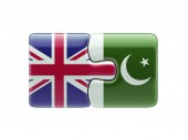 Pakistan United Kingdom  Puzzle Concept — Stock Photo