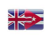 United Kingdom Cuba  Puzzle Concept — Стоковое фото