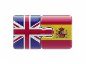 United Kingdom Spain  Puzzle Concept — Stock Photo