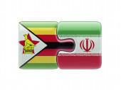 Zimbabwe Iran  Puzzle Concept — Stock Photo