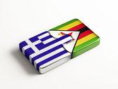 Zimbabwe Greece  Puzzle Concept — Stock fotografie