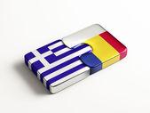 Romania Greece  Puzzle Concept — Stock Photo