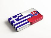 Slovakia Greece  Puzzle Concept — Stock Photo
