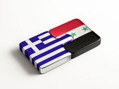 Syria Greece  Puzzle Concept — Stock Photo