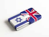 United Kingdom Israel  Puzzle Concept — Stock Photo