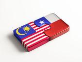 Chile Malaysia  Puzzle Concept — Foto Stock