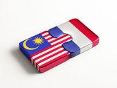 France Malaysia  Puzzle Concept — ストック写真
