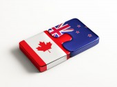 Canada New Zealand  Puzzle Concept — Stock Photo