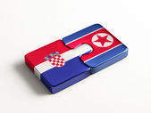 Korea Croatia Countries Puzzle Concept — Stock Photo