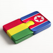 Bolivia North Korea  Puzzle Concept — Stock Photo #56995913