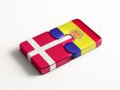 Denmark Andorra  Puzzle Concept — Stock Photo
