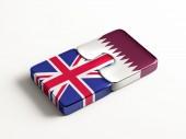 Qatar Storbritannien pussel koncept — Stockfoto