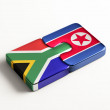 South Africa North Korea  Puzzle Concept — Stock Photo #57016633