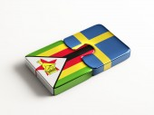 Zimbabwe Sweden  Puzzle Concept — Stock Photo