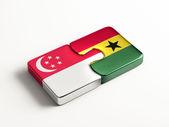 Singapore Ghana  Puzzle Concept — Foto de Stock