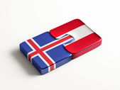 Iceland Austria  Puzzle Concept — Stock Photo