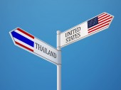 Thailand United States  Sign Flags Concept — Stock Photo