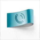 Etikett Kontaktsymbol — Stockfoto