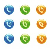 Neem contact op met de pictogrammen — Stockfoto