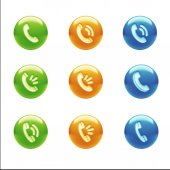 Contact Icons — Stock Photo