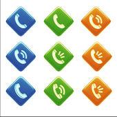 Póngase en contacto con los iconos — Foto de Stock