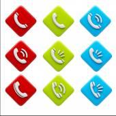 Contact Icons — Stock fotografie