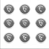 связаться значки — Стоковое фото
