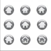 Home Icons isolated on white — Stok fotoğraf