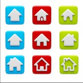 Home Icons isolated on white — Stockfoto