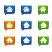 Home Icons — Stock Photo