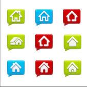 Startseite-symbole — Stockfoto